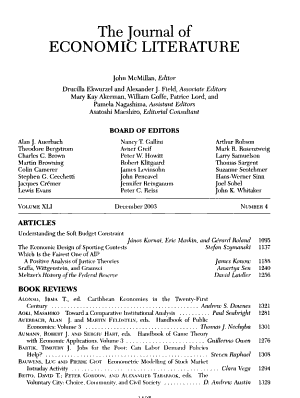 Journal of Economic Literature PDF