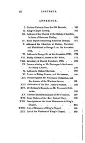 A History of King's Chapel, in Boston: The First Episcopal Church in New England : Comprising Notices of the Introduction of Episcopacy Into the Northern Colonies