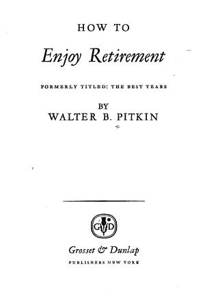How to Enjoy Retirement PDF