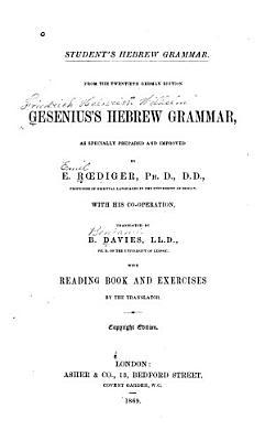 Gesenius s Hebrew Grammar