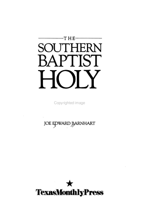 The Southern Baptist Holy War