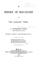 A History of Travancore from the Earliest Times PDF
