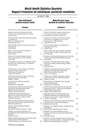 World Health Statistics Quarterly PDF