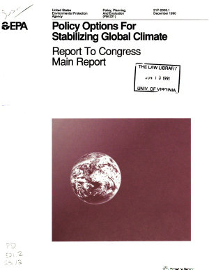 Policy Options for Stabilizing Global Climate