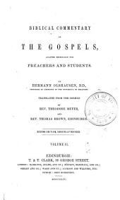 Commentary on the Gospels: Volume 2