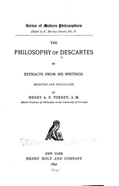 Download The Philosophy of Descartes Book