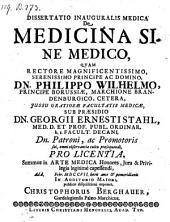 De medicina sine medico; resp. Christophorus Berghauer