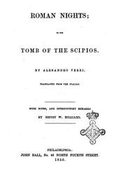 The Roman Nights; Or, Dialogues at the Tombs of the Scipions by Alesandro Verri