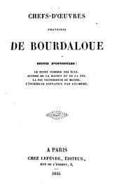 Chefs-d'oeuvres oratoires de Bourdaloue ...