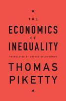 The Economics of Inequality PDF