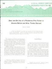 Deer and elk use of a ponderosa pine forest in Arizona before and after timber harvest