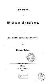 Der Mythus von William Shakspere: eine Kritik der Shakspere'schen Biographie