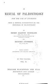 A Manual of Palaeontology...