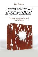 Archives of the Insensible PDF