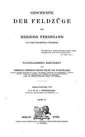 Geschichte der Feldzüge des Herzogs Ferdinand von Braunschweig-Lüneburg: Nachgelassenes Manuscript, Volume2