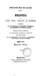 Le Ore solitarie [afterw.] Continuazione delle Ore solitarie. Biblioteca di scienze morali, legislative ed economiche