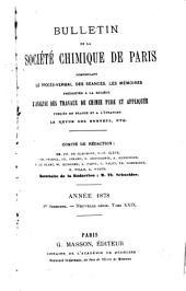 Bulletin de la Société chimique de Paris: Volume29