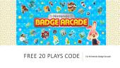 Nintendo Badge Arcade free code for 20 plays!: How to activate, and use free code for Nintendo Badge Arcade. The free codes activates 20 free plays!