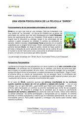 """UNA VISION PSICOLOGICA DE LA PELICULA """"SHREK"""""""