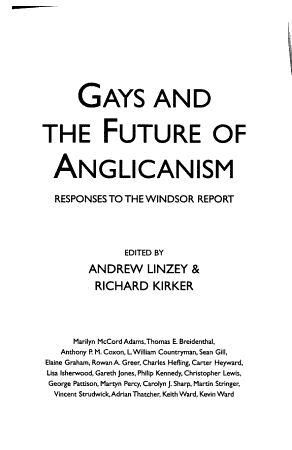 Gays and the Future of Anglicanism PDF