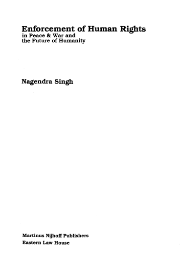 Enforcement of Human Rights PDF