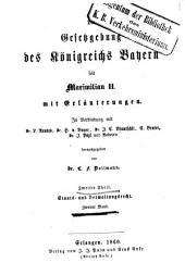 Die Gesetzgebung des Königreichs Bayern seit Maximilian II.: mit Erläuterungen. Staats- und Verwaltungsrecht ; Bd. 2. 2,2