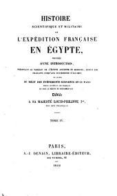Histoire scientifique et militaire de l'expédition française en Égypte ...