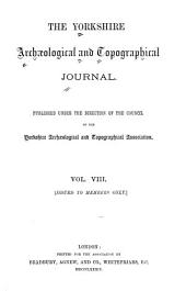 The Yorkshire Archaeological Journal: Volume 8