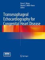 Transesophageal Echocardiography for Congenital Heart Disease PDF