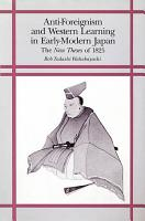 Anti foreignism and Western Learning in Early modern Japan PDF