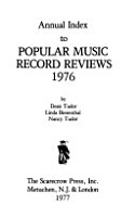 Annual Index to Popular Music Record Reviews 1976 PDF