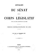 Annales du Sénat et du Corps législatif