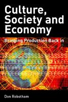Culture  Society  Economy PDF