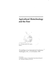 Agricultural Biotechnology and the Poor PDF