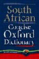 South African Concise Oxford Dictionary PDF