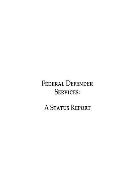 Federal Defender Services