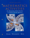 Mathematics Activities for Elementary School Teachers Book