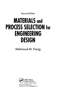 Materials and Process Selection for Engineering Design  Second Edition PDF