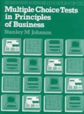 Multiple Choice Tests in Principles of Business PDF