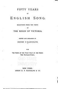 The poets of the first half of the reign  The novelist poets PDF