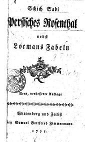 Schich Sadi Persisches Rosenthal