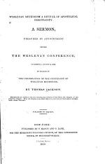 Wesleyan Methodism a Revival of Apostolic Christianity