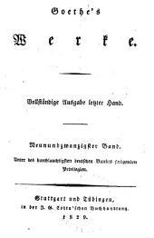 Goethes Werke: Vollstandige Ausgabe letzter Hand, Band 29