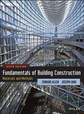 Fundamentals of Building Construction: Materials and Methods, Edition 6