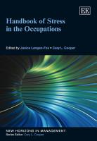 Handbook of Stress in the Occupations PDF