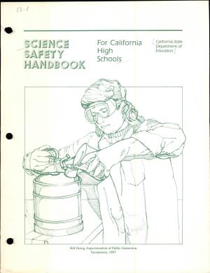 Science Safety Handbook for California High Schools