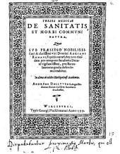 Theses med. de sanitatis et morbi communi natura
