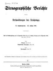 Stenographische Berichte über die Verhandlungen des Deutschen Reichstages: Band 92