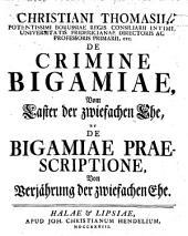 De bigamiae praescriptione