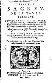 Tableaux sacrez de la Gaule Belgique